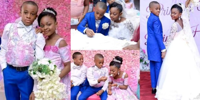See photos Of The Youngest Kids Who Got Married 1