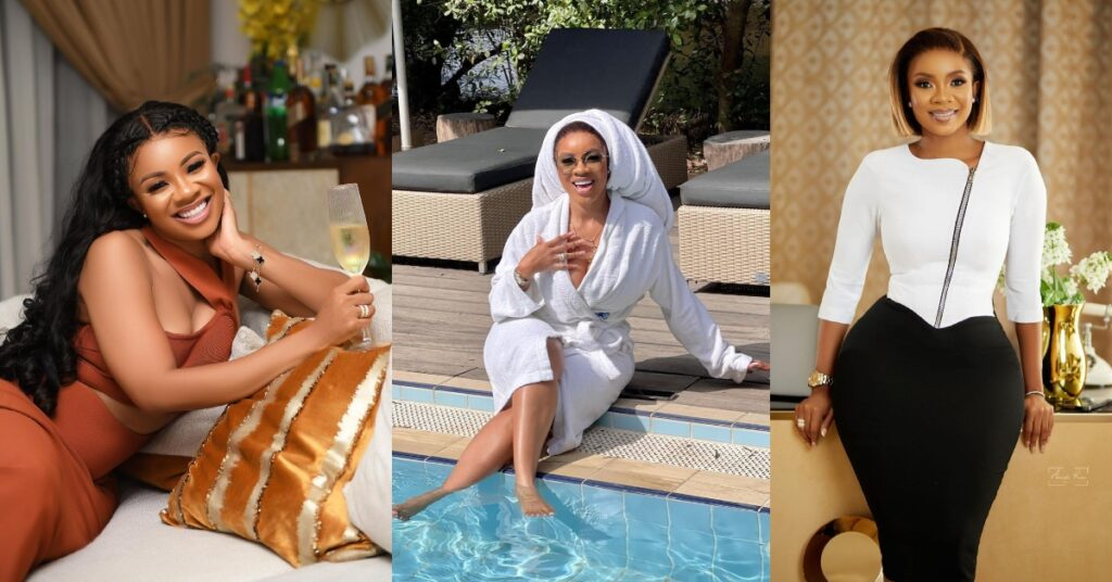 Serwaa Amihere displays her good life with pool chilling Photos 2