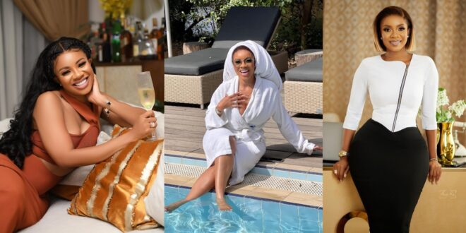 Serwaa Amihere displays her good life with pool chilling Photos 1