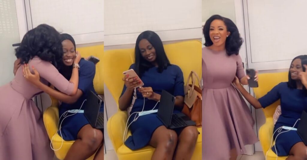Serwaa Amihere gives a warm welcome to Natalie Fort as starts work at GHOne - Video 2