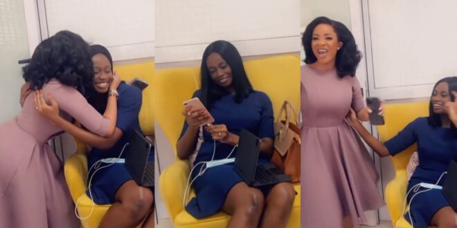 Serwaa Amihere gives a warm welcome to Natalie Fort as starts work at GHOne - Video 1