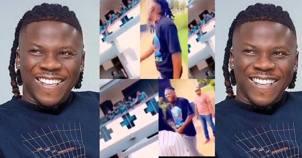 St Roses Girls go cr@zy as Stonebwoy storms their school — Video 2