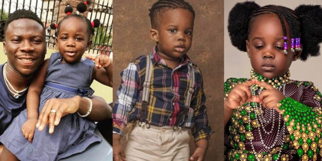 Stonebwoy's daughter, Jidula gushes over her little brother in a new video 1