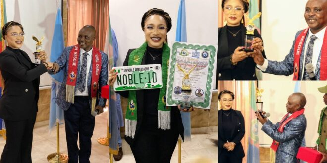 Tonto Dikeh falls for Dr. UN scam as she happily receives fake awards. 1