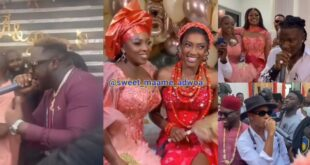 Videos - Stonebwoy, Medikal, Kidi, and other celebrities perform at Roseline Okoro's Wedding 14