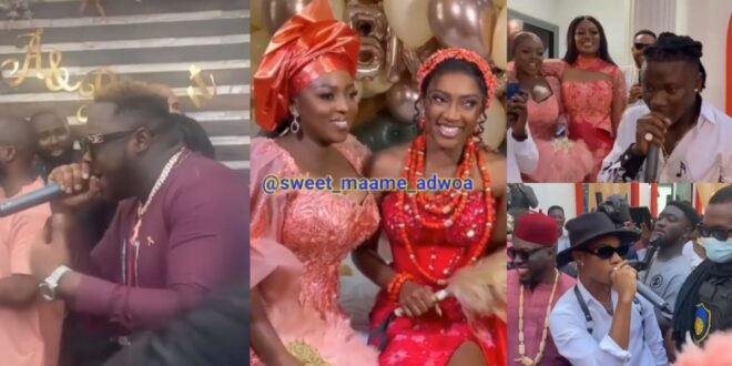 Videos - Stonebwoy, Medikal, Kidi, and other celebrities perform at Roseline Okoro's Wedding 1