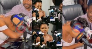 Watch the sad moment Akuapem Poloo cried like a baby during her press conference - Video 66