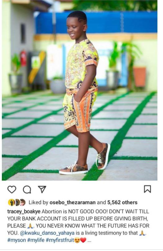 """""""Don't do Abortion, and also don't wait to have money before giving birth""""- Tracey Boakye advises. 3"""