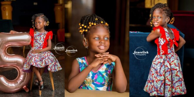 Beautiful deaf Ghanaian girl with blue eyes trills social media with stunning pictures 1