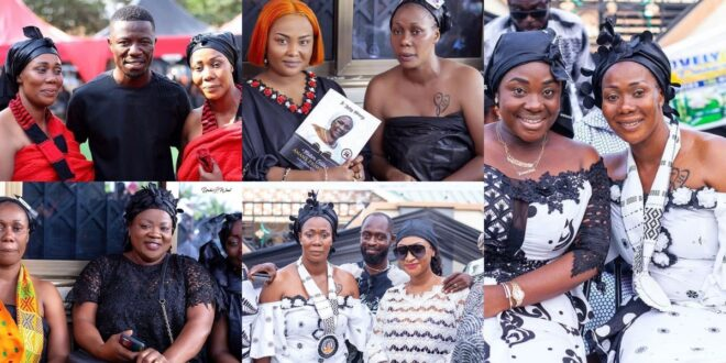 Kumawood actresses and Actors who went to mourn with Borga Sylvia and her twin sister as they bury their mother 1