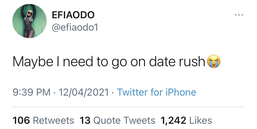 I need to go on Date Rush - Efia Odo says after several broken hearts 2