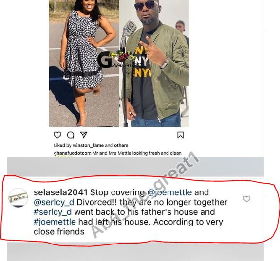 Sh0cking! Joe Mettle and his wife reportedly divorced - Screenshots 4