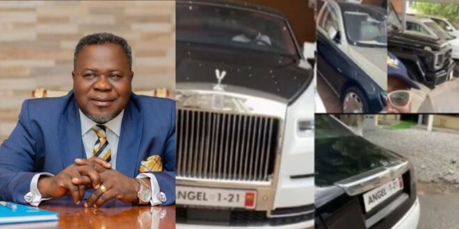 After giving Kuami Eugene and Ohemaa woyeje Cars, see the fleet of cars Dr Kwaku Oteng still have (video) 1
