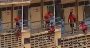 Akosua Spiderman😂 Accra Technical University student climbs building to see her boyfriend (video) 18