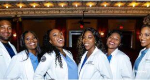 Social media goes crazy as 6 siblings all graduate as Doctors. 107
