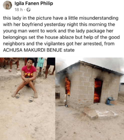 Angry lady sets boyfriend's house on fire after misunderstanding - Photos 5