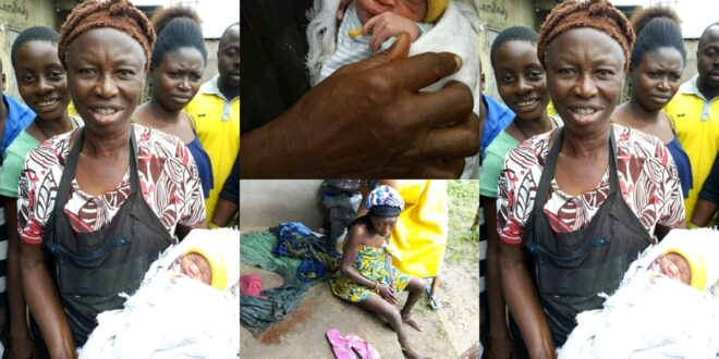 M@d woman gives birth to a health handsome baby boy. (photos) 1