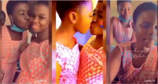 SHS lesbian couple spotted chopping love in new video 22