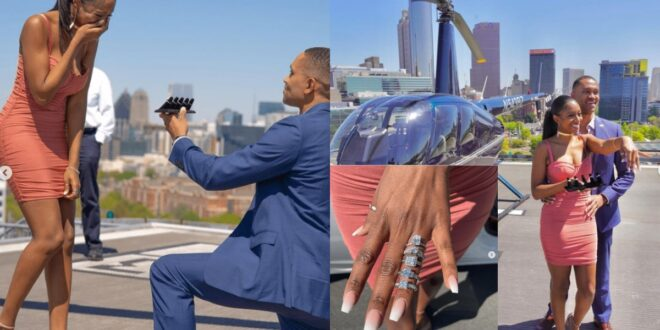 Man Proposes to his girlfriend with 5 different diamond rings (photos) 1