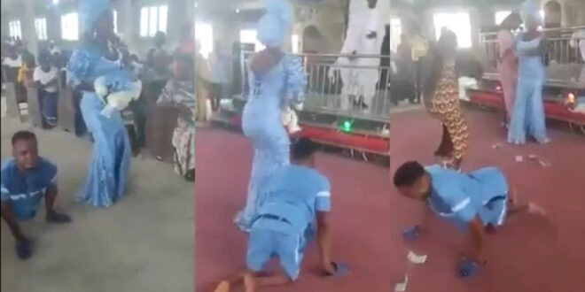 Disable man and his wife dance and give thanks to God for blessing them with a baby boy (video) 1