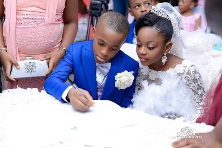 See photos Of The Youngest Kids Who Got Married 3