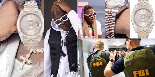 Medikal deletes $10,000 Rolex watch receipt after social media users Tagged FBI 1