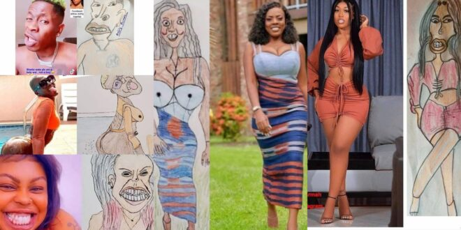Pictures of your favorite celebrities and their professional drawing that are trending online. 1