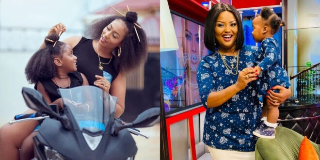 Nana Ama Mcbrown and Hajia4real show in new pictures why having a daughter is a blessing above all. 1