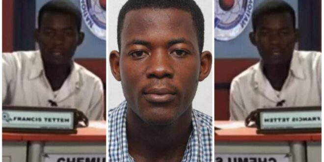 Sad news! Former NSMQ contestant Francis Tetteh, pursuing PhD in Canada dies 1