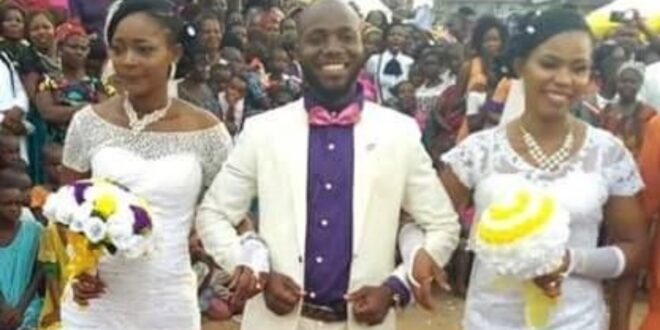 Man cries after he returns from a trip to find out his two wives were lesbians dating each other. 1