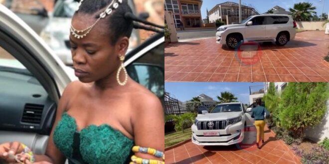 Dr.Kwaku Oteng gifts Ohemaa woyeje an expensive Toyota Prado (video) 1