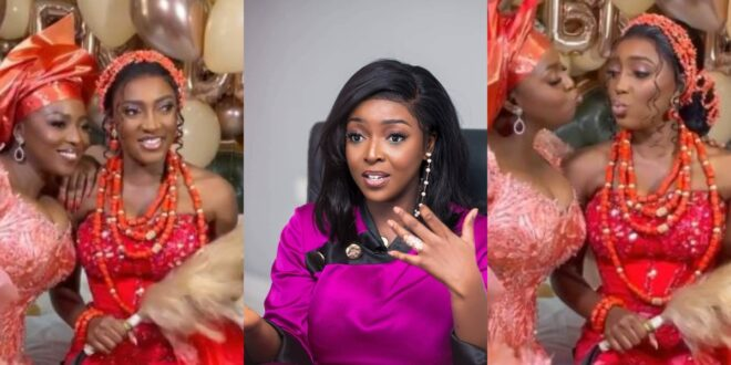 """""""I thought Older sisters were supposed to marry first""""- Netizen reacts to Yvonne Okoro's younger sister getting married. 1"""