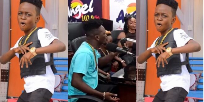 Seven years old rapper, Foto copy, asked to return to school by radio host after going on radio tour at Angel FM (video) 1