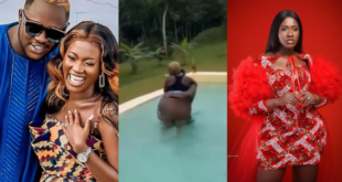 Medikal's wife, Fella Makafui displays her raw body in a pool - Video 3