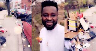 A young man shows rubbish on the streets of New York blasting Twene Jonas (video) 19
