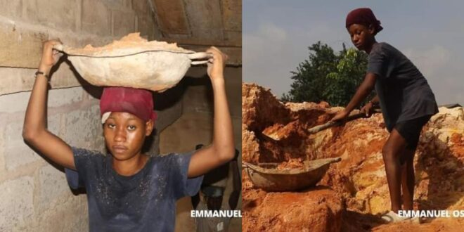 Beautiful 20 years old University student does construction work to support herself 1