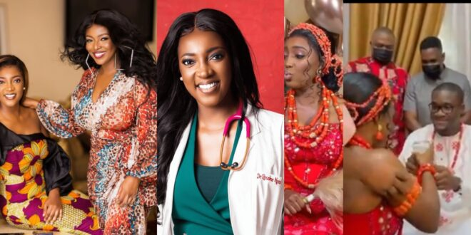 Yvonne Okoro's younger sister gets married in a Nigerian style traditional wedding (video) 1