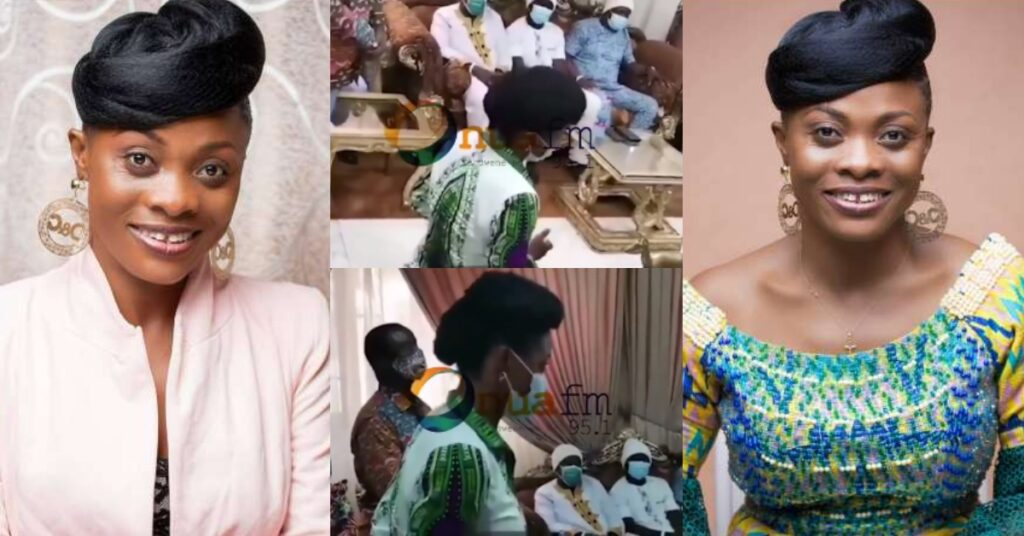 New video: Diana Asamoah goes on her knees in front of Ga Traditional Council and begs for forgiveness 1