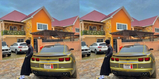 Kuami Eugene flaunts His customize car and Huge Mansion in a new photo. 1