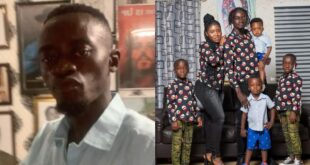 Lil Win Flaunts His US-Based Wife And Four Kids in stunning photos. 4