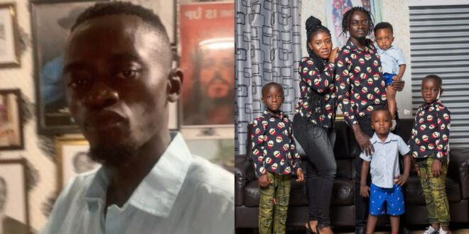 Lil Win Flaunts His US-Based Wife And Four Kids in stunning photos. 1