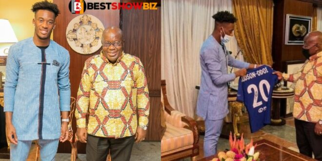 President Akuffo Addo ask Odoi to play for Ghana after he visited the him 1