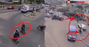 CCTV video of how Armed robbers killed a policeman in Bullion van attack surfaces online 5